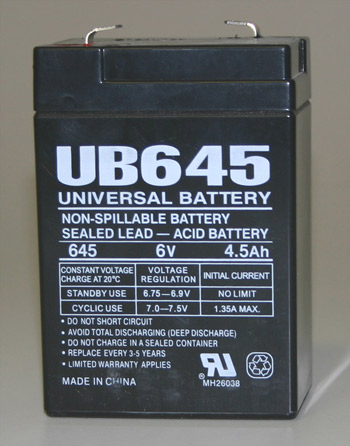 6 volt battery 4 5 ah west texas feeder supply. Black Bedroom Furniture Sets. Home Design Ideas