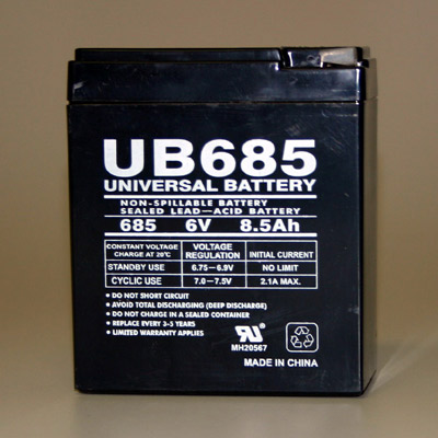 6 Volt Battery - 8.5 AH