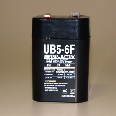 6 Volt Battery - Lantern Style w/spade top