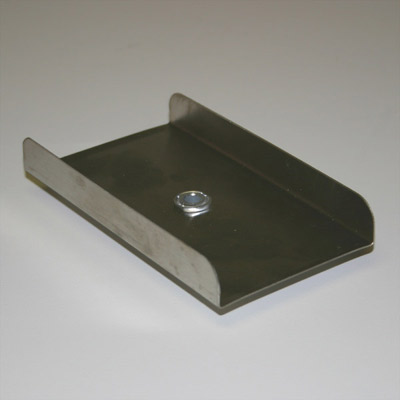 Stainless Steel Rectangular Plate - 1/4 in. hub