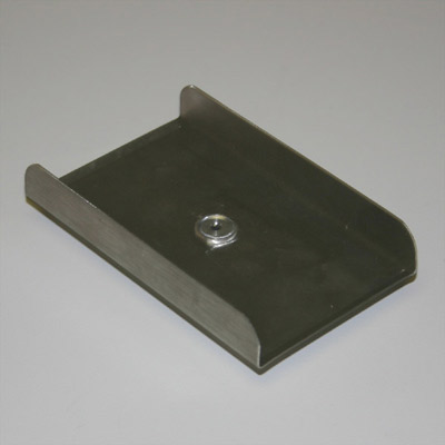 Stainless Steel Rectangular Plate - 1/8 in. hub